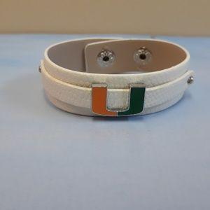 Miami Hurricanes Bracelet